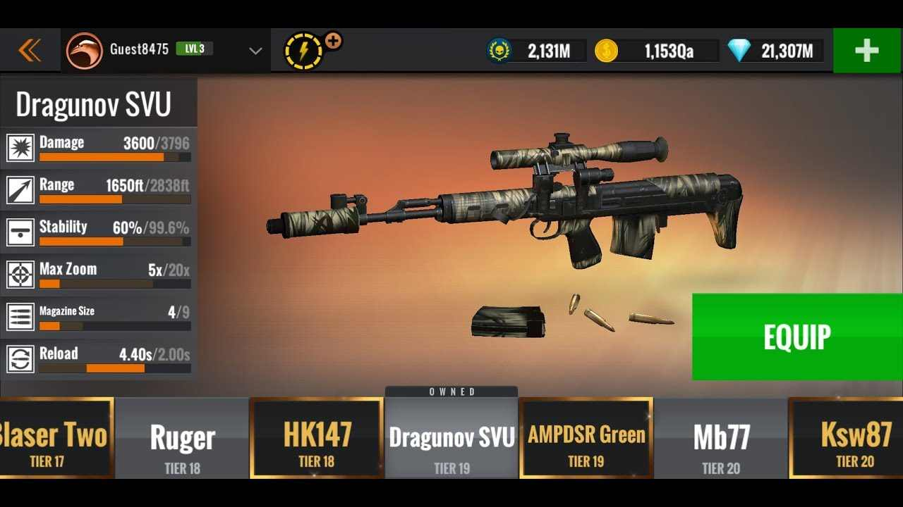 Sniper 3D mod android