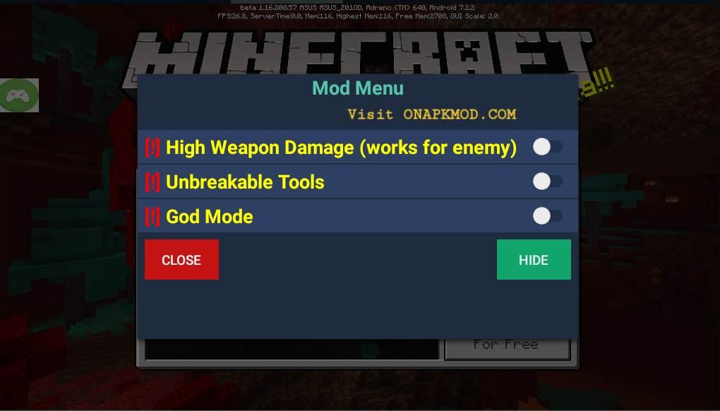 minecraft pe mod