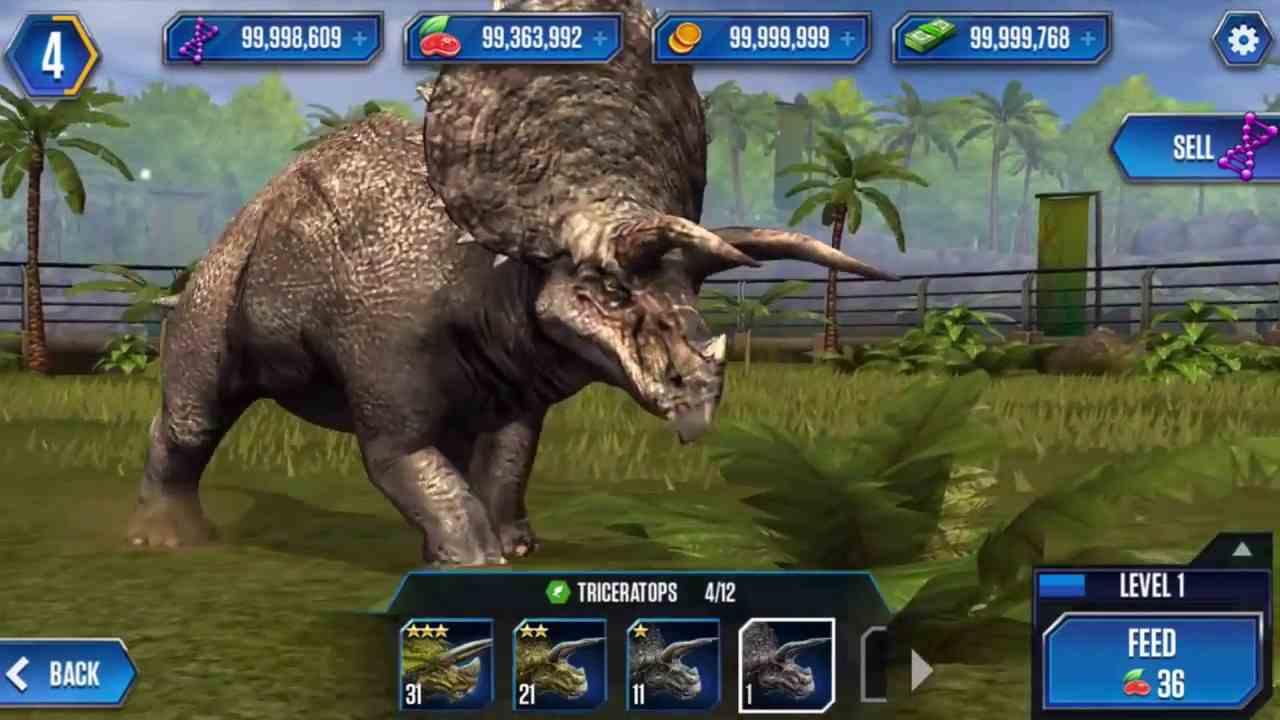 Game Jurassic World The Game Mod