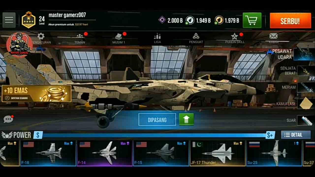 Game Modern Warplanes Mod