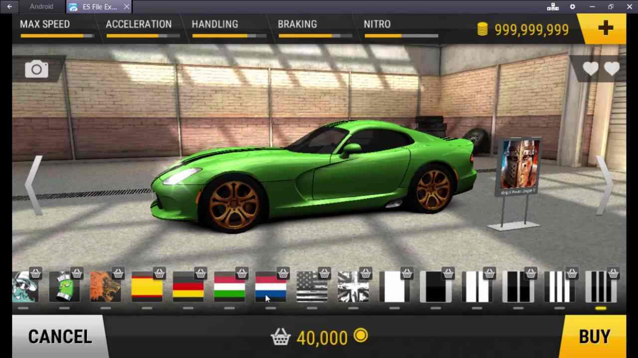 game Racing Fever mod hack