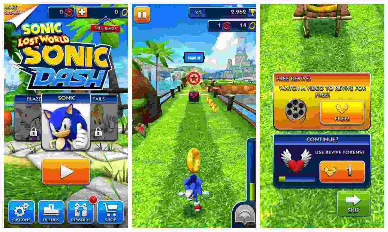 game Sonic Dash mod