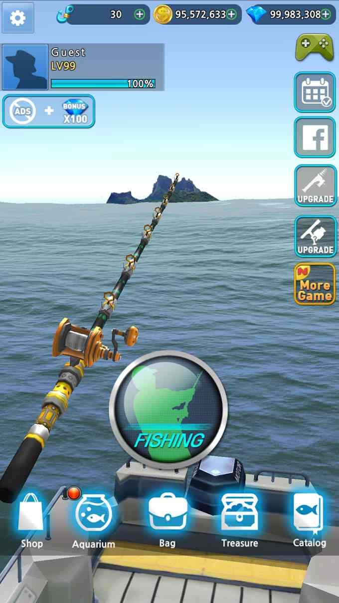 game Monster Fishing 2021 mod hack