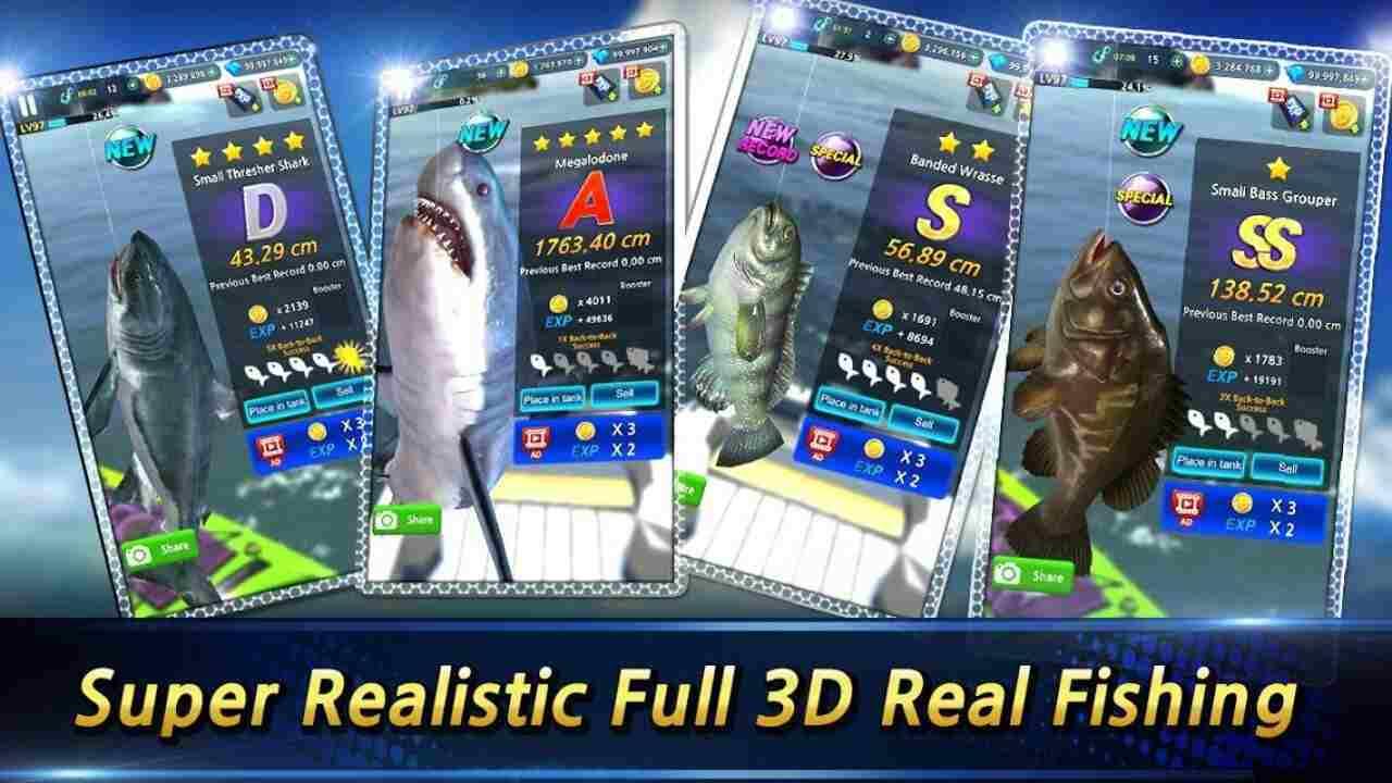 tai game Monster Fishing 2021 mod apk