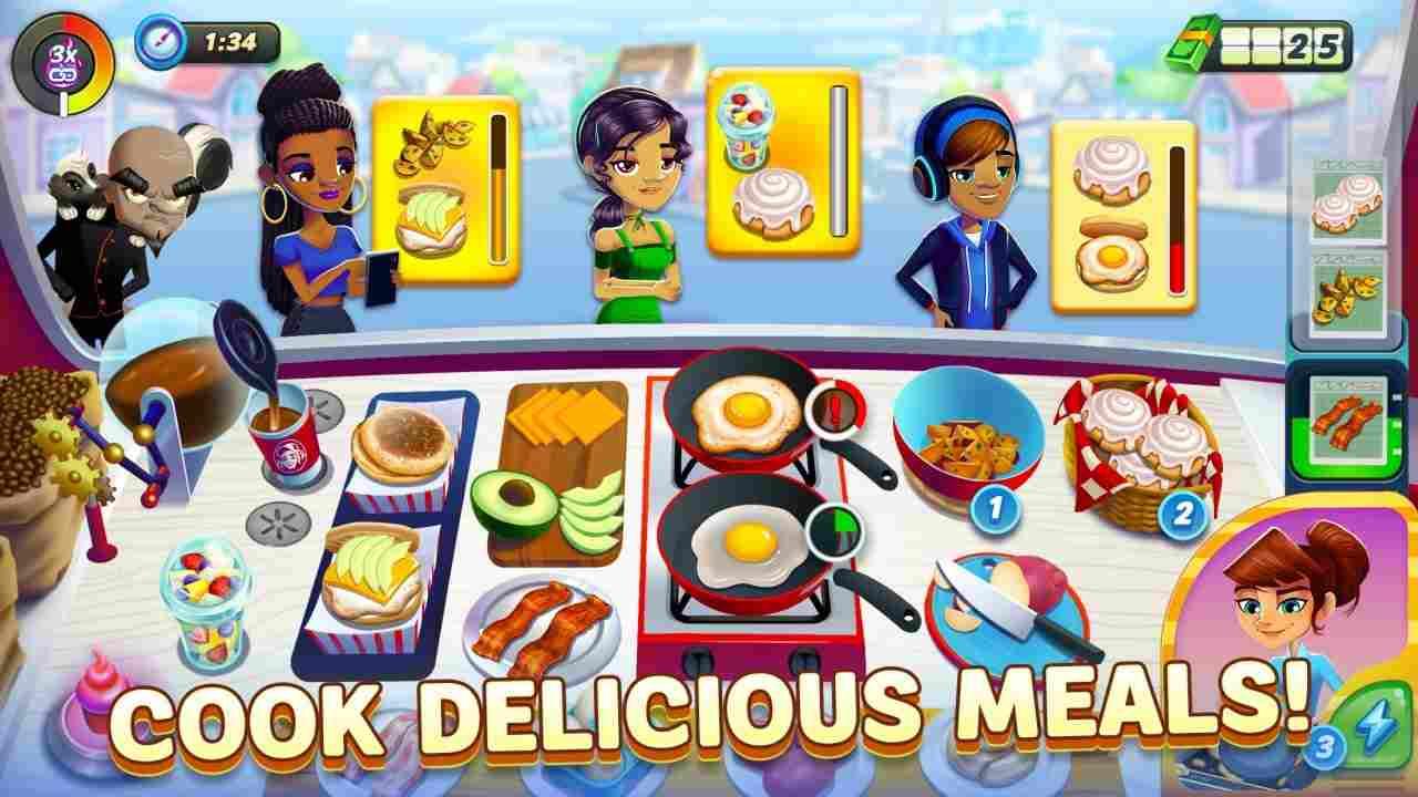 tai game Cooking Dash mod apk
