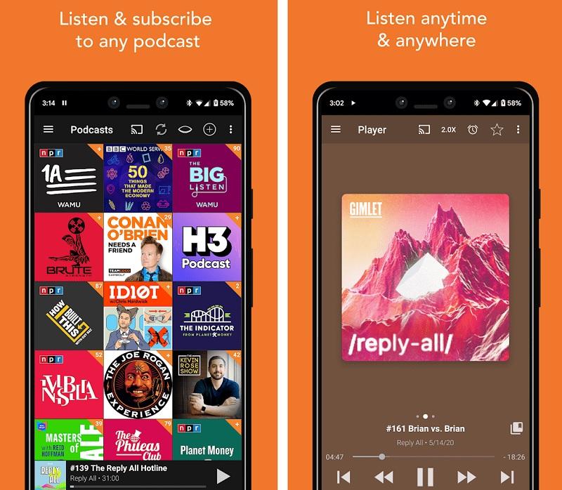 ban mod cua Podcast Addict Donate Version
