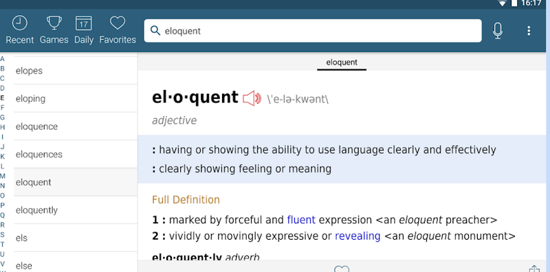 Dictionary Merriam Webster Mod